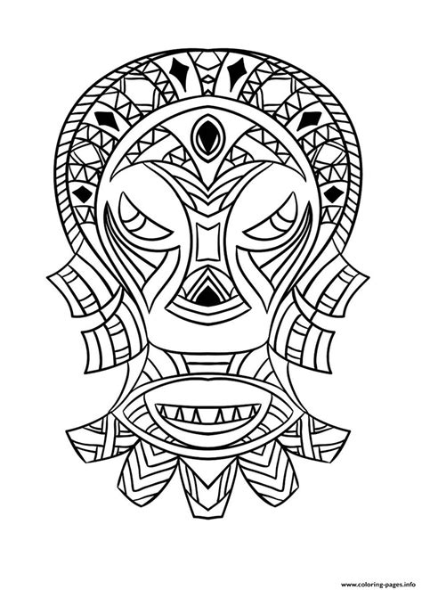 africa coloring pages mask coloring page coloring home