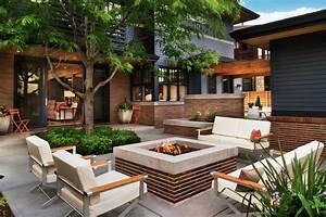 Designing a patio around a fire pit diy for Delightful decoration terrasse de jardin 8 deco cheminee avec insert