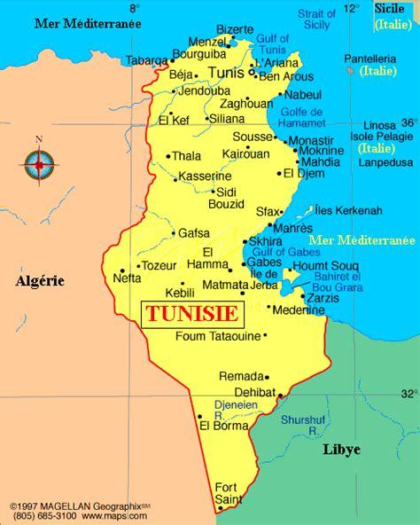 Carte De Tunisie Avec Villes by Venez D 233 Couvrir La Tunisie