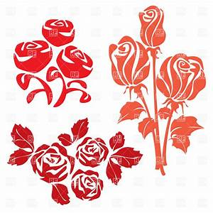 Rose simple silhouette, 17070, Plants and Animals ...