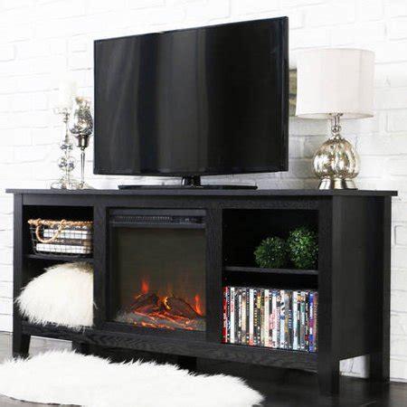 walker edison tv stand  fireplace insert  tvs