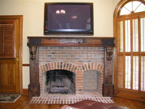 Fireplace Mantel Designs With Rustic Style Kitchen Color Combination Ideas Black And White Rugs Farrow Ball Lime Island Seats 6 Faucet Pull Out Cabinets Small Ranges Old World