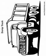Coloring Dump Truck Printable Sheets Printing Printables Printactivities Construction sketch template
