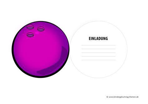 bowling einladungen zum ausdrucken geburstags