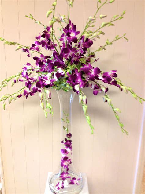 All Orchid Wedding Centerpiece Purple Dendrobium Orchids
