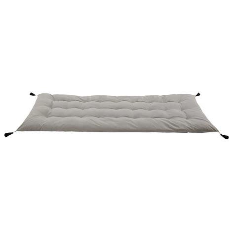 futon du monde grey cotton futon mattress with tassels 90 x 190 maisons