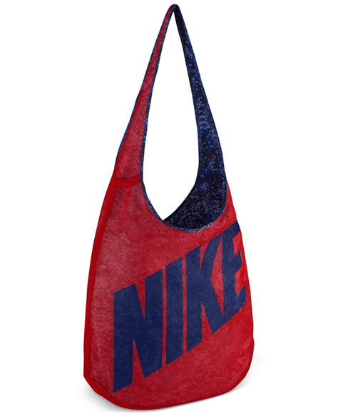 Nike Tote Bag lyst nike graphic print tote bag in blue