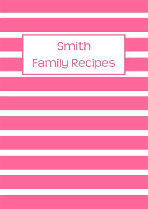 recipe binder cover page pink images frompo