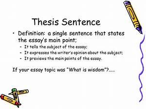 Thesis Statement For Definition Essay Writing a great