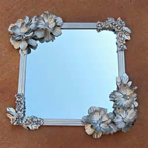 Dollar Store DIY Flowered Mirror Craft