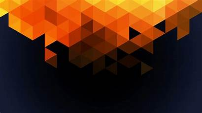 Orange Triangle 4k Pattern Wallpapers Desktop Fall
