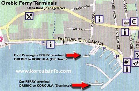 Ferry Boat Orebic Korcula by Ferry Terminal In Orebic Korculainfo