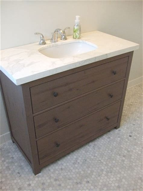 ikea bathroom vanities with drawers vanity from hemnes dresser ikea hackers ikea hackers