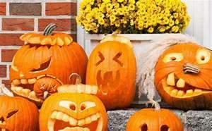Kürbis Schnitzen Ideen : halloween k rbis schnitzen einen gruseligen halloween ~ Lizthompson.info Haus und Dekorationen