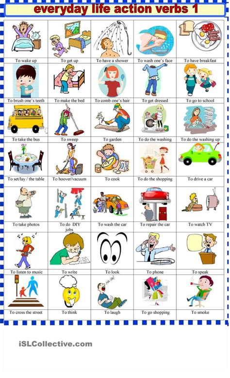 English verbs – Free English Materials For You