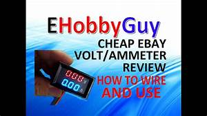 Cheap Ebay Volt  Ammeter  Review  How To Wire And Use