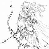 Archer Drawing Coloring Pages Line Female Drawings Sketch Sterling Sketches Template Getdrawings sketch template