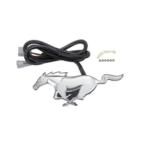 mustang light up pony emblem ford mustang pony emblem front grille light up v6 ecoboost