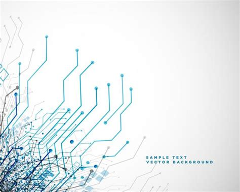 Technology Network Circuit Lines Abstract Background