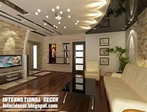 Modern false ceiling designs for living room interior for Interior ceiling design for living room