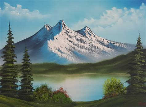 Original Oil Painting In Bob Ross Style Majesty On