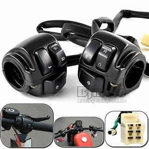 Motorcycle 1 Pair 1 U0026quot  Handlebar Control Switches Black