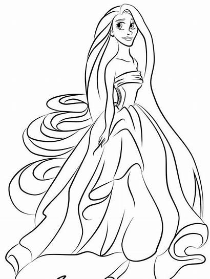 Coloring Princess Pages Printable