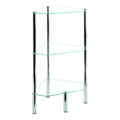 etagere d angle en verre etag 232 re d angle en verre 3 plateaux bergen matelpro