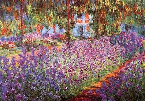 artist s garden of irises claude monet oil painting