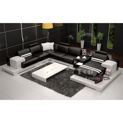 canape d angle en u canapé d 39 angle panoramique en cuir véritable pino pop