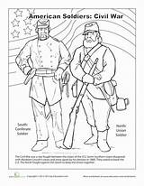 Civil Coloring War Pages Worksheet Printable American Studies Worksheets Soldiers Social History Drawing Activities Education Forces Grade Colouring Memorial Print sketch template