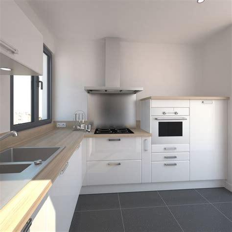 cuisine lambermont cuisine blanche design meuble iris blanc brillant design