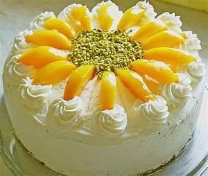 Topfen Quark Pfirsichcreme Torte Im Sommerlichen Rezepte Suchen