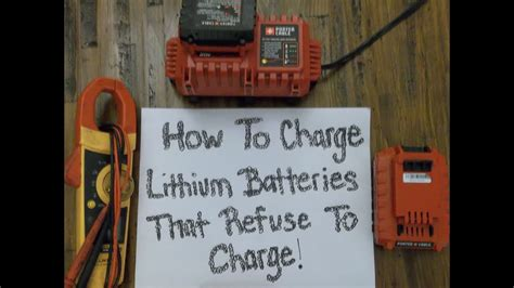 charge porter cable  lithium batterys  wont