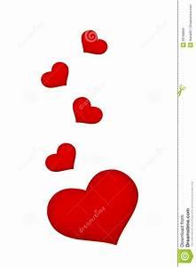 Beau coeur rouge illustration stock Illustration du