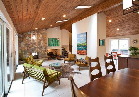 midcentury living room mid century modern fireplace living room midcentury with ceiling lighting atlanta