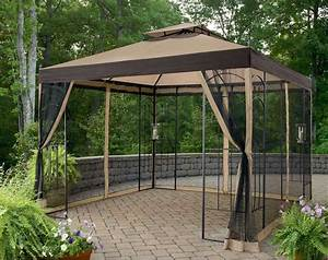Gazebo With Mosquito Netting Assembly Instructions, 10x10 ...