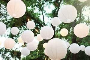 Lampions Mit Led : lampion wei hochzeit papierlatern lampions mit led ~ Watch28wear.com Haus und Dekorationen