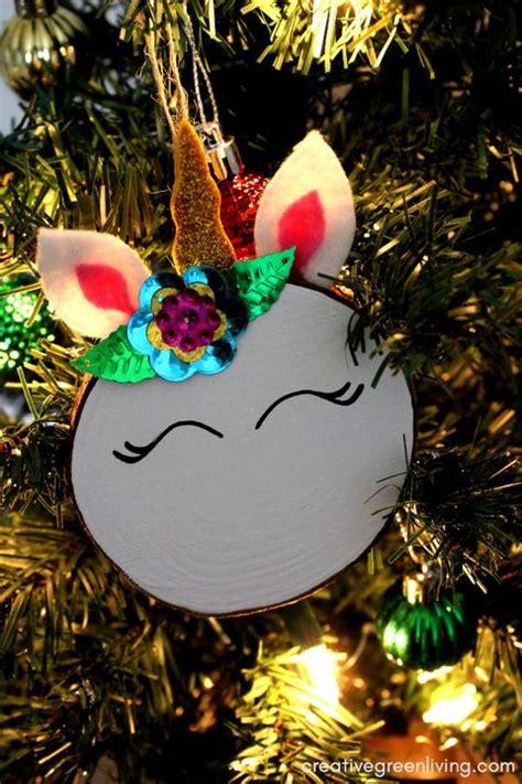 unicorn ornaments   diy  buy fun christmas