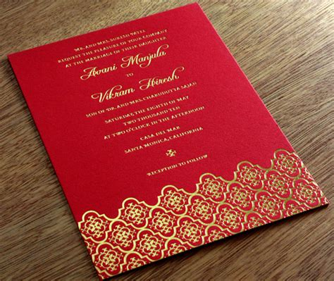 Make a Statement Foil Stamped Indian Wedding Cards