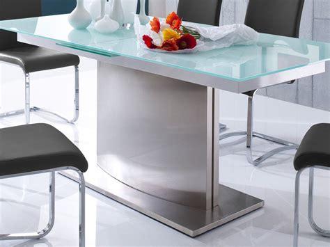 glastisch ausziehbar esstisch weiss verschiedene groessen