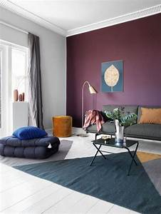 Awesome, Purple, Living, Room, Wall, Color, Ideas, 193810