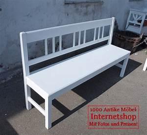 160 cm wei e shabby chic bank gartenbank fichte sitzbank for Weiße sitzbank