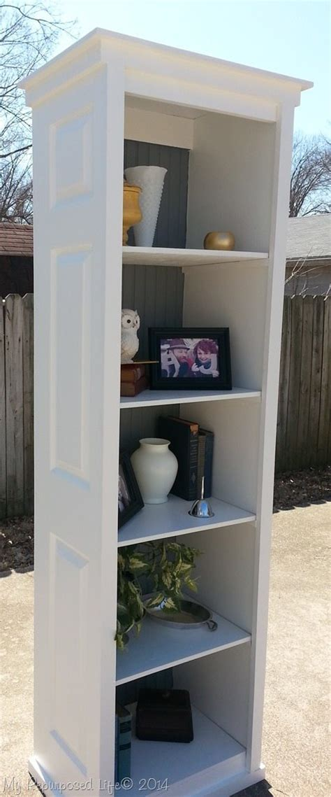 bi fold door bookshelf  repurposed life