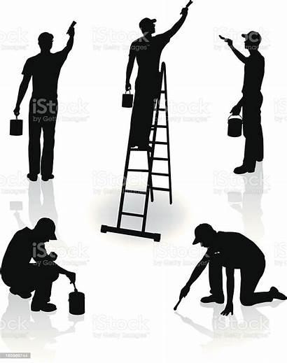 Improvement Painters Repairman Painter Professional Clip Vectors