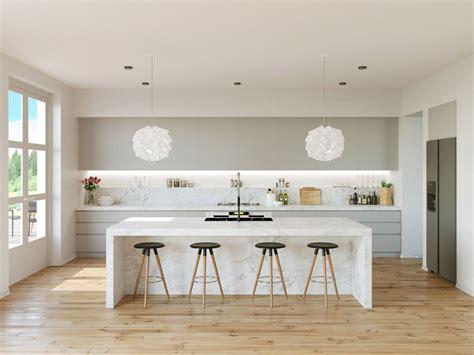 gorgeous grey  white kitchens    mix