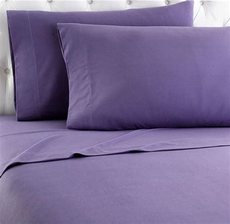 micro flannel solid color sheet set