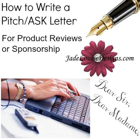 write   letter sample pitch letter  review