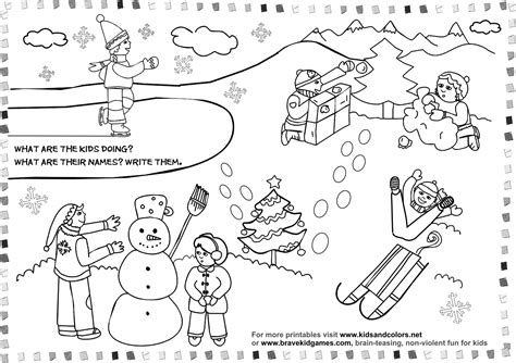 winter season coloring pages crafts and worksheets for preschool toddler and kindergarten