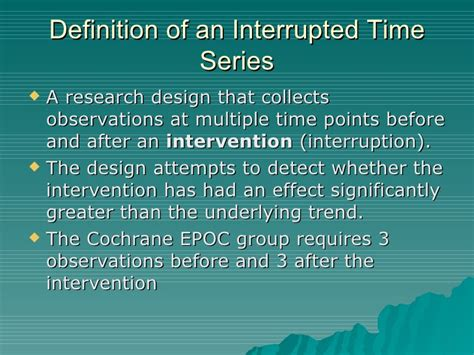 interrupted time series design rcts cohort and interrupted time series